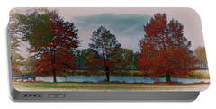 Fall On The Farm Portable Battery Charger