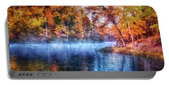Portable Battery Charger featuring the photograph Fall On The Lake by Debra and Dave Vanderlaan