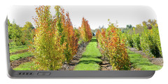 Fall On The Tree Farm Portable Battery Charger