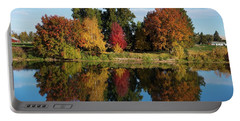 Fall On The Yakima River Portable Battery Charger