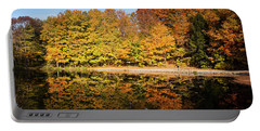 Fall Ontario Forest Reflecting In Pond  Portable Battery Charger