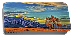Portable Battery Charger featuring the photograph Fall Over The Flatirons by Scott Mahon