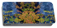 Portable Battery Charger featuring the digital art Fall Painting Twins by Kevin Blackburn