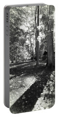 Fall Picnic Bw Painted Portable Battery Charger