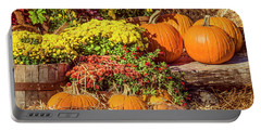 Portable Battery Charger featuring the photograph Fall Pumpkins by Carolyn Marshall