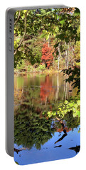Fall Reflections Portable Battery Charger by Nancy Landry