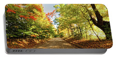 Portable Battery Charger featuring the photograph Fall Roads by Lars Lentz