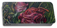 Fall Roses Portable Battery Charger by Nadine Dennis