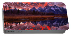 Fall Schwabacher Landing Sunset Reflections Portable Battery Charger