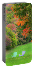 Fall Seating Portable Battery Charger by Alan L Graham