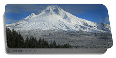 Fall Snow On Mount Hood Portable Battery Charger by Lynn Hopwood