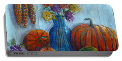 Portable Battery Charger featuring the painting Autumn Still Life by Lou Ann Bagnall