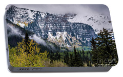 Portable Battery Charger featuring the photograph Fall Storm In Wasatch Mountains - Utah by Gary Whitton