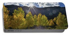 Fall Sun Setting Over Mt. Charleston Portable Battery Charger