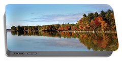 Fall Tree Reflections Lake Sabago Maine Portable Battery Charger