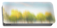 Fall Trees On Flooded Lake Portable Battery Charger by Robert FERD Frank
