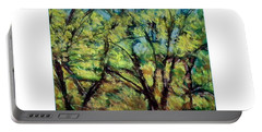 Portable Battery Charger featuring the photograph Fall Trees by Shirley Moravec
