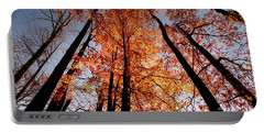Fall Trees Sky Portable Battery Charger by Meta Gatschenberger