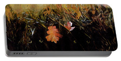 Fall Wind Across The Meadow Portable Battery Charger by Seth Weaver