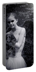 Portable Battery Charger featuring the photograph Fallen Angel by Rebecca Margraf