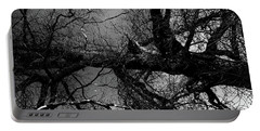 Fallen Dark Wood Forest Portable Battery Charger