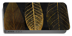 Fallen Gold II Autumn Leaves Portable Battery Charger by Mindy Sommers