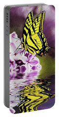 Fallen Lilacs Portable Battery Charger by Diane Schuster