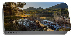 Portable Battery Charger featuring the photograph Fallen Tree At Sprague Lade by Tim Stanley