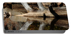 Portable Battery Charger featuring the photograph Fallen Tree Mirror Image by Debbie Oppermann