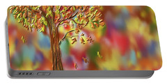 Falling Leaves Portable Battery Charger by Kevin Caudill