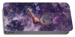 Falling Purple Galaxy Portable Battery Charger
