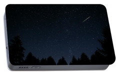 Portable Battery Charger featuring the photograph Falling Star by Katie Wing Vigil