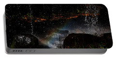 Portable Battery Charger featuring the photograph Falling Water Abstract by Chris Flees