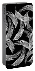 Falling White Feathers Portable Battery Charger