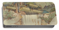Fallingwater Pen And Ink Portable Battery Charger