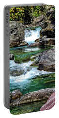 Falls Above Lake Mc Donald Portable Battery Charger