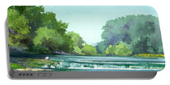 Falls At Estabrook Park Portable Battery Charger
