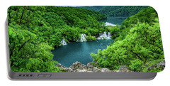 Falls From Above - Plitvice Lakes National Park, Croatia Portable Battery Charger