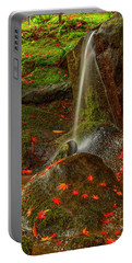 Falls In Seattle Japanese Garden Portable Battery Charger