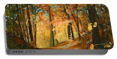 Fall's Radiance In Quebec Portable Battery Charger