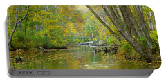 Falls Road Bridge Over The Gunpowder Falls Portable Battery Charger by Donald C Morgan