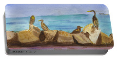 Portable Battery Charger featuring the painting Falmouth Mass by Donna Walsh