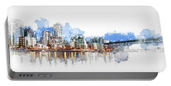 Portable Battery Charger featuring the photograph False Creek by Cameron Wood