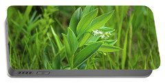 Portable Battery Charger featuring the photograph False Solomon Seal by Ann E Robson