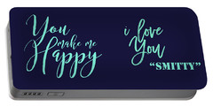 You Make Me Happy Art Portable Battery Charger