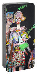 Portable Battery Charger featuring the painting Family Day by Fabrizio Cassetta
