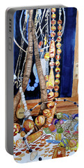 Portable Battery Charger featuring the painting Family Jewels by Sandy McIntire