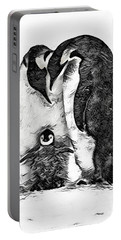 Portable Battery Charger featuring the digital art Family Love by Pennie McCracken