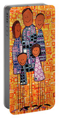 Portable Battery Charger featuring the painting Family Portrait by Donna Howard