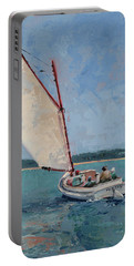 Family Sail Portable Battery Charger by Trina Teele